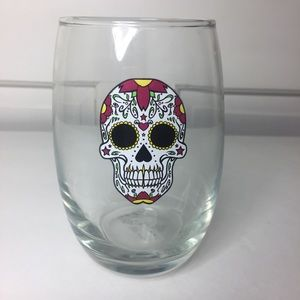 Other - White Skull Wine/drink glass. 12oz